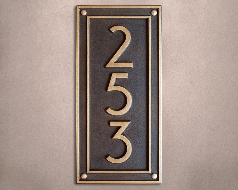modern vertical plaque